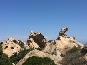 Les rochers sculptés par l'érosion