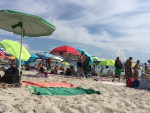 La partie publique de la plage