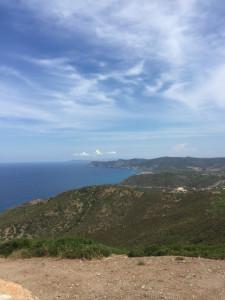 Au sommet ;vue vers le nord