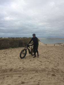 Sortie VTT à la plage du Petit-Nice
